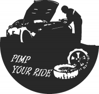 Pimp ride Clock - DXF CNC dxf for Plasma Laser Waterjet Plotter Router Cut Ready Vector CNC file