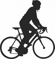 Cycle Silhouette  - For Laser Cut DXF CDR SVG Files - free download