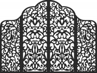 Shirma gate - DXF CNC dxf for Plasma Laser Waterjet Plotter Router Cut Ready Vector CNC file