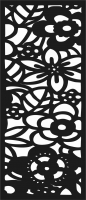 door , flowers Design pattern screen panel file cdr and dxf free vector download for laser cut cnc