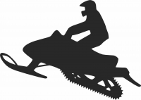 Snowmobile Silhouette  - For Laser Cut DXF CDR SVG Files - free download