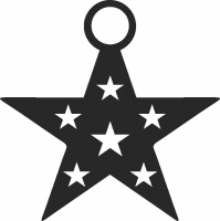 Christmas star - DXF CNC dxf for Plasma Laser Waterjet Plotter Router Cut Ready Vector CNC file