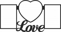 Family Love Heart Photo - For Laser Cut DXF CDR SVG Files - free download