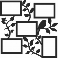 Family Tree With Photo - For Laser Cut DXF CDR SVG Files - free download