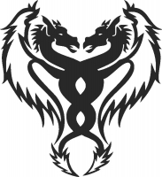 Dragon Design - DXF SVG CDR Cut File, ready to cut for laser Router plasma
