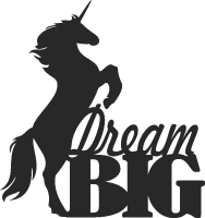 Dream big horse Wall decor - DXF SVG CDR Cut File, ready to cut for laser Router plasma