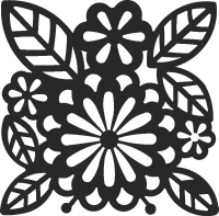 Floraal design - DXF SVG CDR Cut File, ready to cut for laser Router plasma