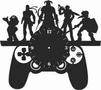 Kid Room Wall Clock- For Laser Cut DXF CDR SVG Files - free download