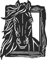 Horse cadre - DXF SVG CDR Cut File, ready to cut for laser Router plasma