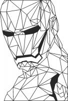 Iroonman - DXF SVG CDR Cut File, ready to cut for laser Router plasma