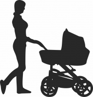 Family Silhouette - For Laser Cut DXF CDR SVG Files - free download