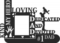 Love dad picture holder - DXF CNC dxf for Plasma Laser Waterjet Plotter Router Cut Ready Vector CNC file