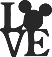 Love mickey  - DXF CNC dxf for Plasma Laser Waterjet Plotter Router Cut Ready Vector CNC file