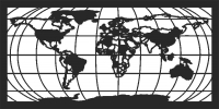 Map world - DXF CNC dxf for Plasma Laser Waterjet Plotter Router Cut Ready Vector CNC file