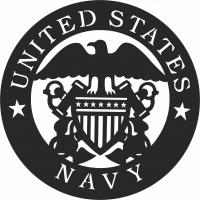 United states navy army logo  - For Laser Cut DXF CDR SVG Files - free download