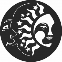 Smile Moon And Sun - For Laser Cut DXF CDR SVG Files - free download