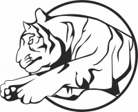 Circus tigre jump - For Laser Cut DXF CDR SVG Files - free download