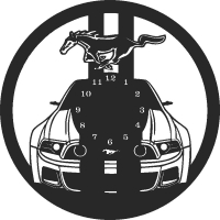 Mustang car - DXF CNC dxf for Plasma Laser Waterjet Plotter Router Cut Ready Vector CNC file