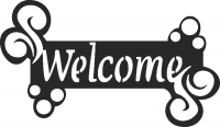 Welcome plaque sign - DXF CNC dxf for Plasma Laser Waterjet Plotter Router Cut Ready Vector CNC file