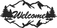 Welcome sign - DXF CNC dxf for Plasma Laser Waterjet Plotter Router Cut Ready Vector CNC file