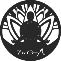 Yoga clock - DXF CNC dxf for Plasma Laser Waterjet Plotter Router Cut Ready Vector CNC file
