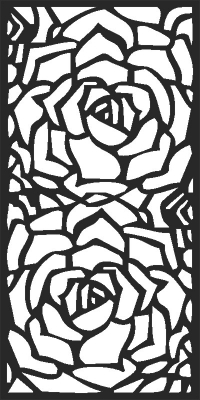 Door floral pattern - DXF CNC dxf for Plasma Laser Waterjet Plotter Router Cut Ready Vector CNC file