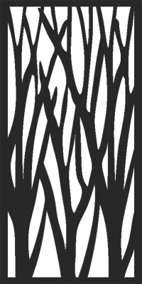 Branches door Pattern dxf Ai svg cdr Free File Download
