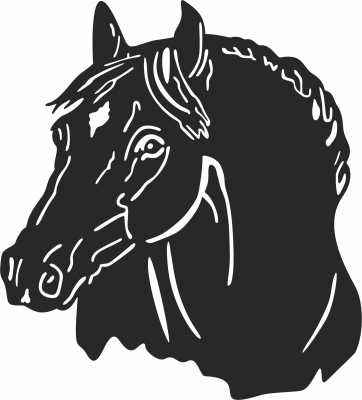 Horse face - For Laser Cut DXF CDR SVG Files - free download