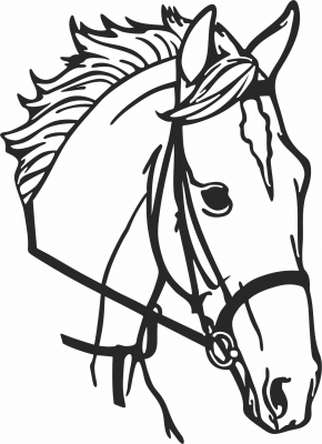Horse face  clipart - For Laser Cut DXF CDR SVG Files - free download