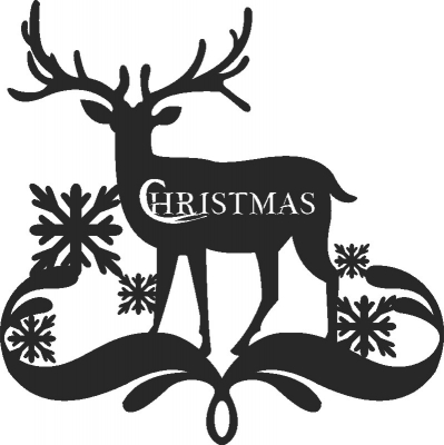 Deer Merry Christmas Dxf Svg Cdr Cut File Ready To Cut For Laser Router Plasma Dxf Vectors