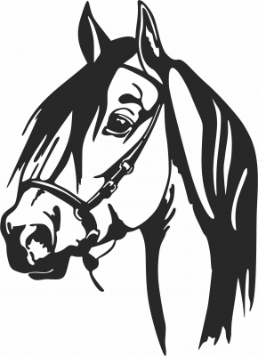 Horse face scene clipart- For Laser Cut DXF CDR SVG Files - free download