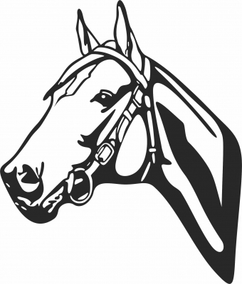Horse face clipart- For Laser Cut DXF CDR SVG Files - free download
