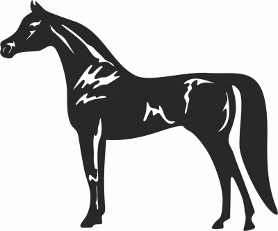 Arabic horse clipart- For Laser Cut DXF CDR SVG Files - free download